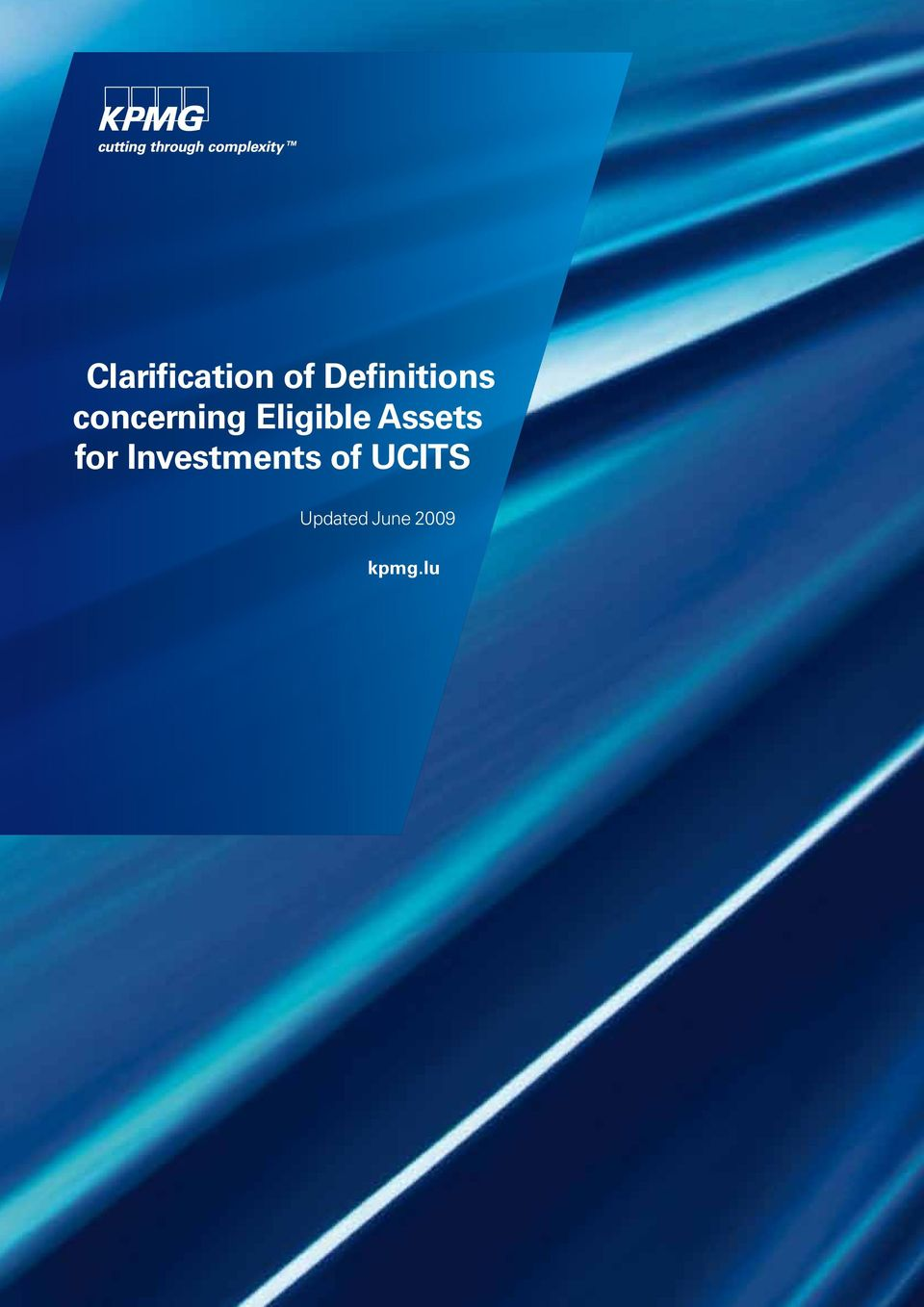 Eligible Assets for Investments of UCITS