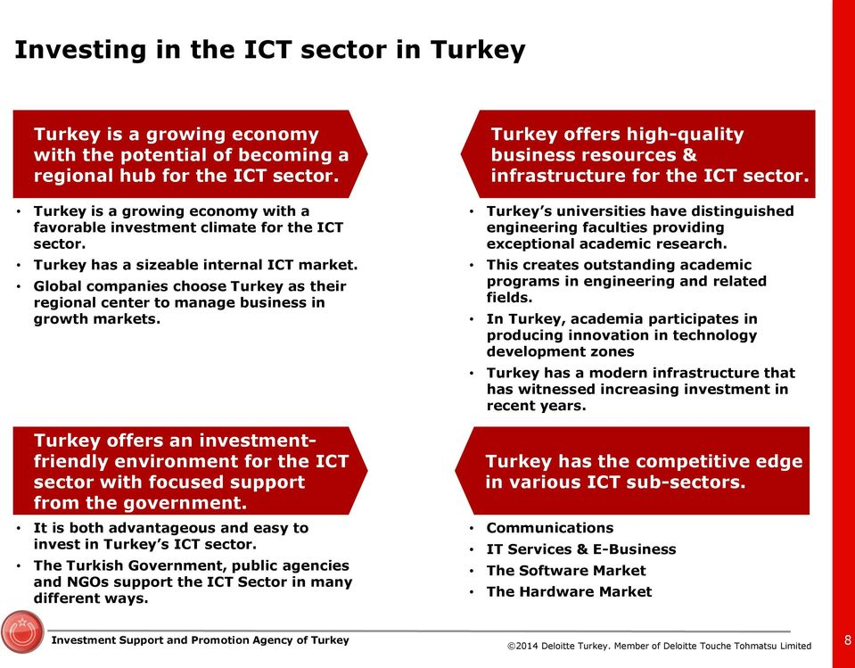 Global companies choose Turkey as their regional center to manage business in growth markets.