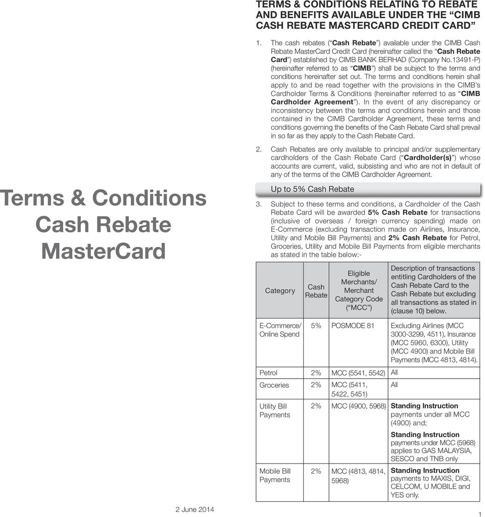 13491-P) (hereinafter referred to as CIMB ) shall be subject to the terms and conditions hereinafter set out.