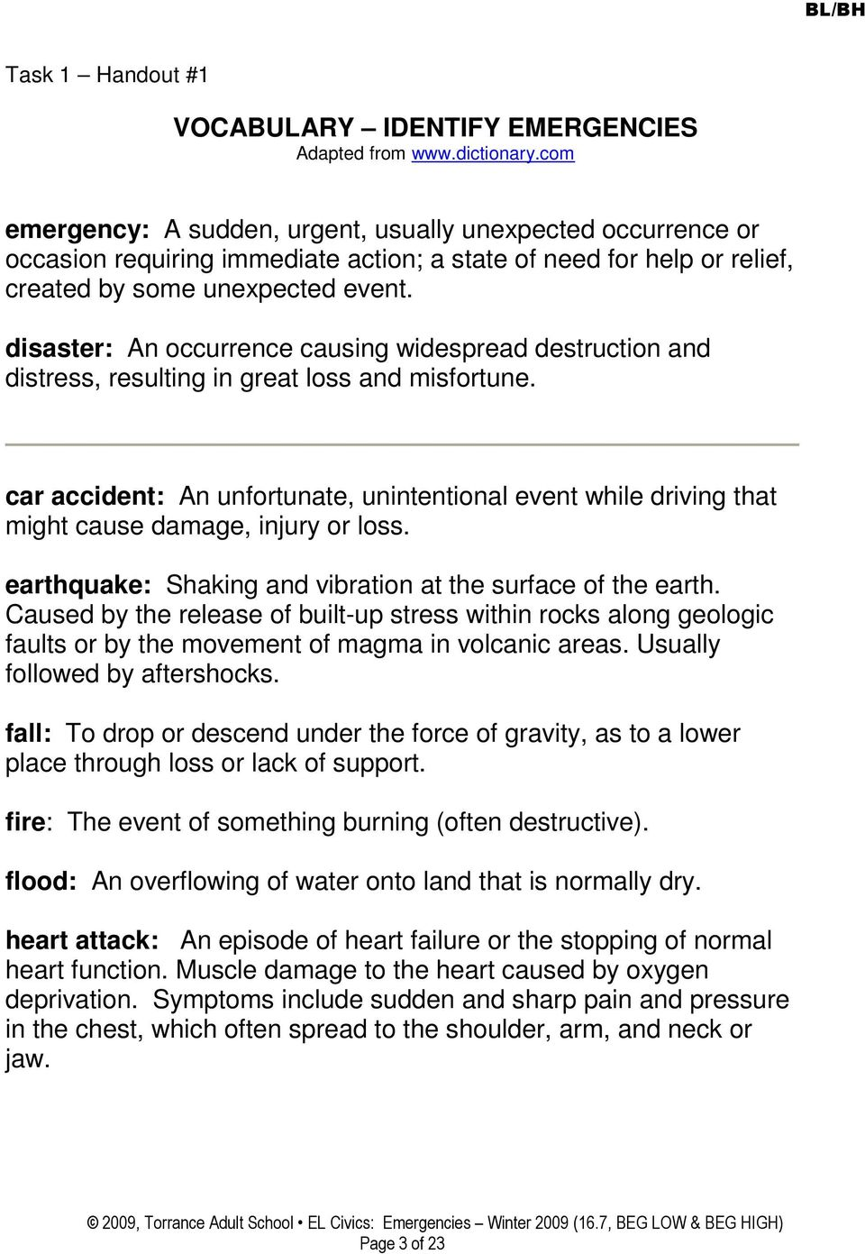 disaster: An occurrence causing widespread destruction and distress, resulting in great loss and misfortune.