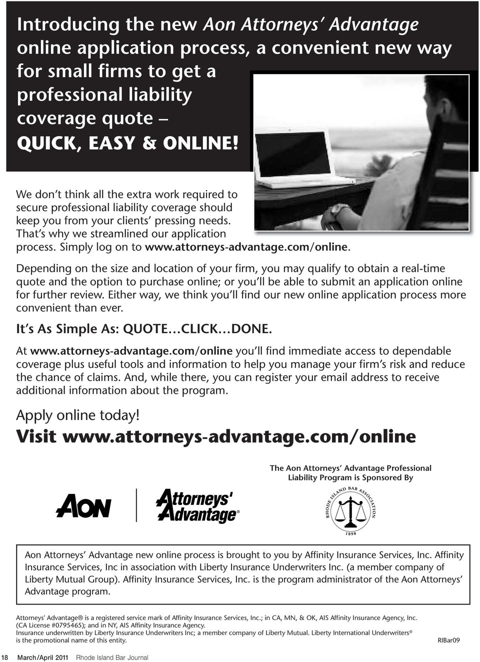 Simply log on to www.attorneys-advantage.com/online.