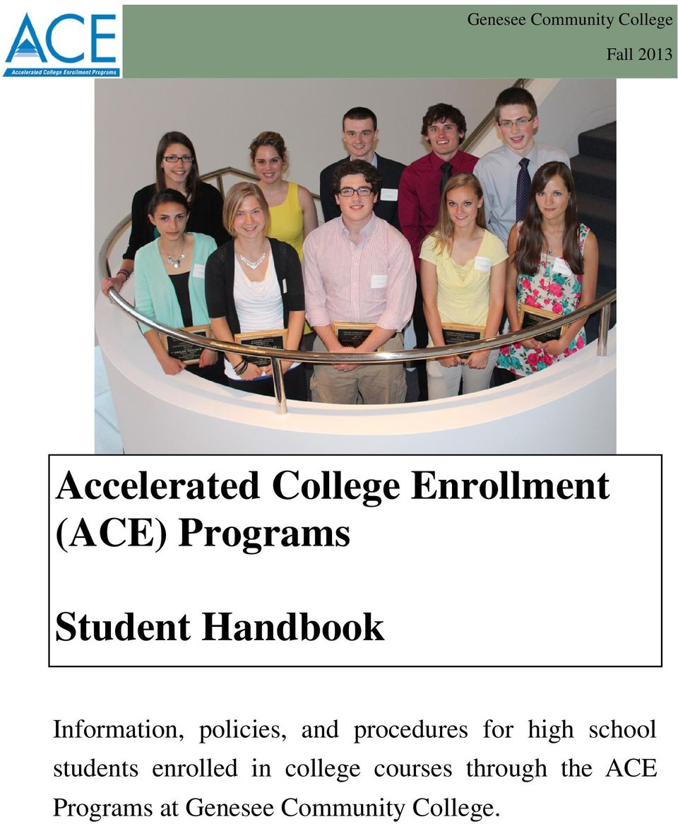 policies, and procedures for high school students enrolled