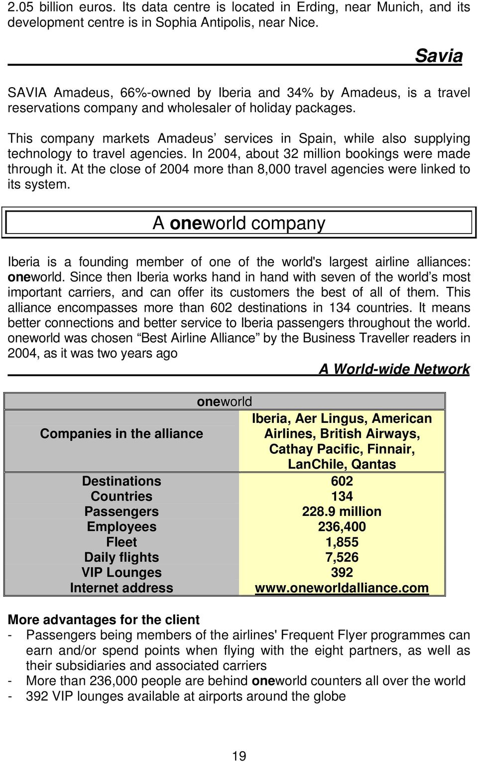 This company markets Amadeus services in Spain, while also supplying technology to travel agencies. In 2004, about 32 million bookings were made through it.