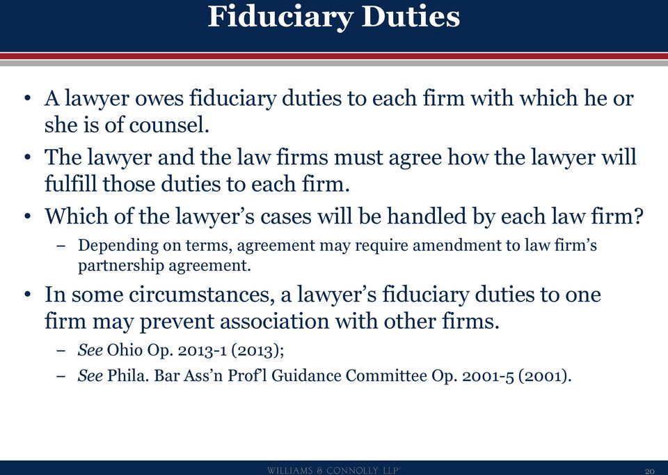 Which of the lawyer s cases will be handled by each law firm?