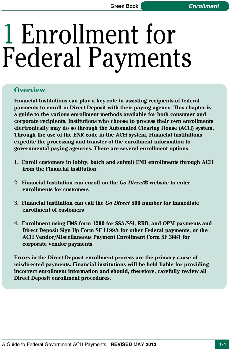 1 Enrollment for Federal Payments - PDF