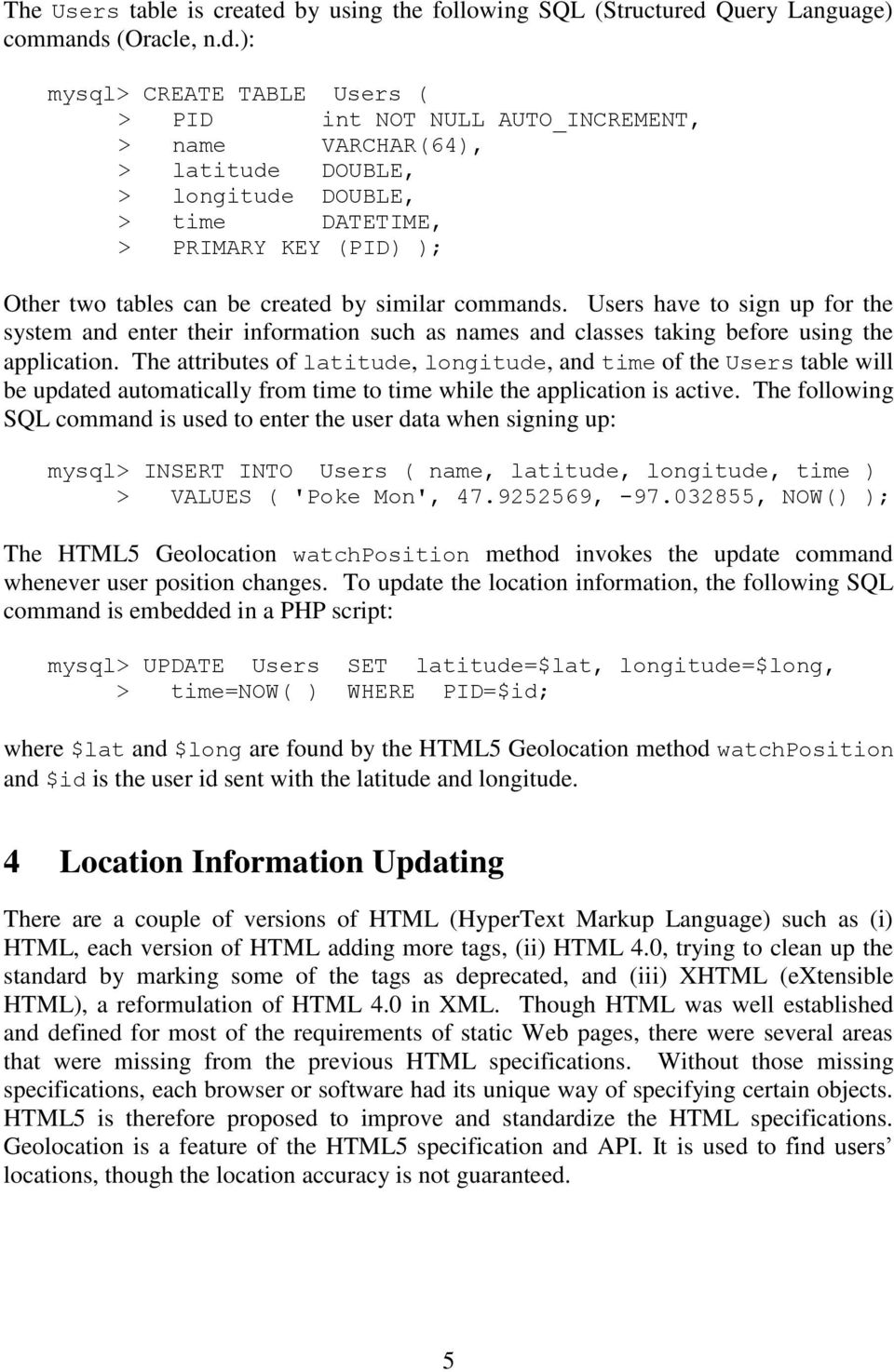 Location-Based Services Using HTML5 Geolocation and Google