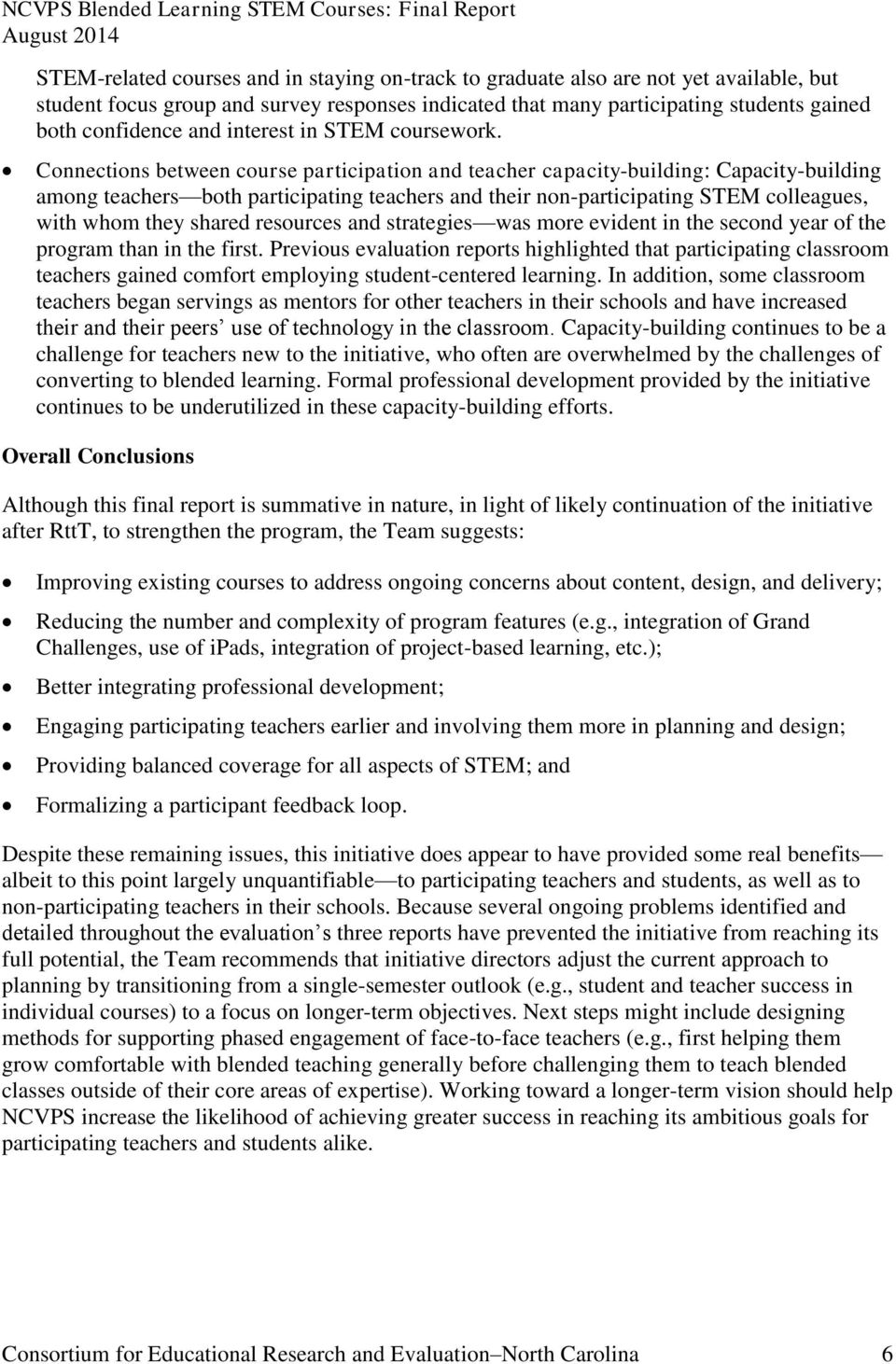 Connections between course participation and teacher capacity-building: Capacity-building among teachers both participating teachers and their non-participating STEM colleagues, with whom they shared