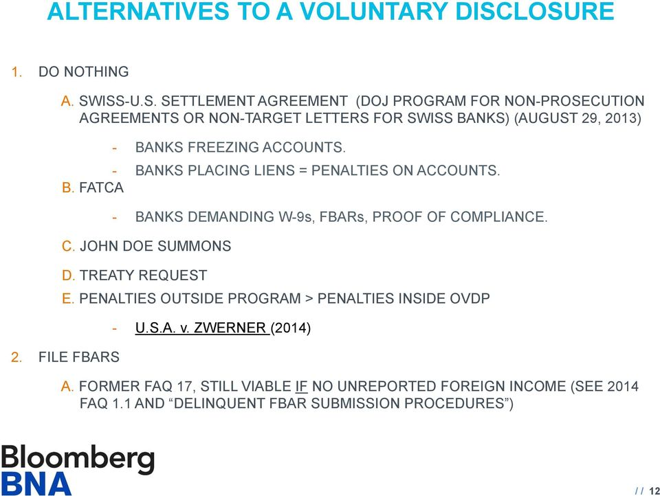 Offshore Voluntary Disclosure A Brief Guide To The Various Irs