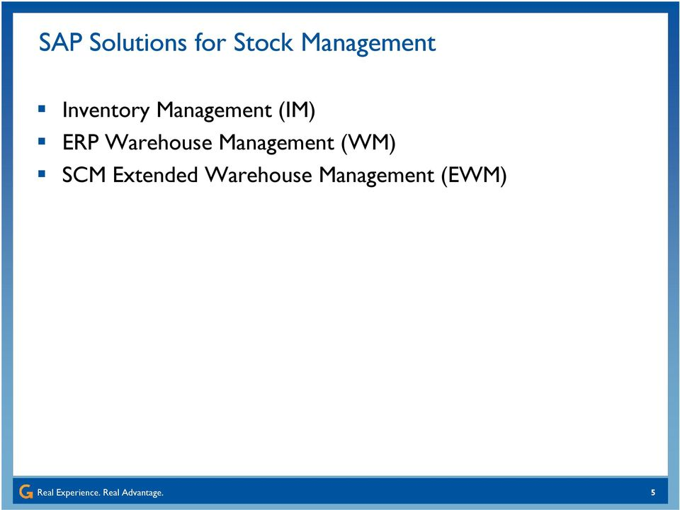 (IM) ERP Warehouse Management