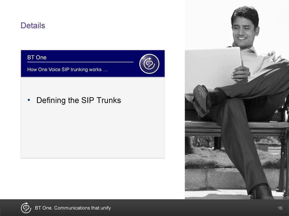 Defining the SIP Trunks BT