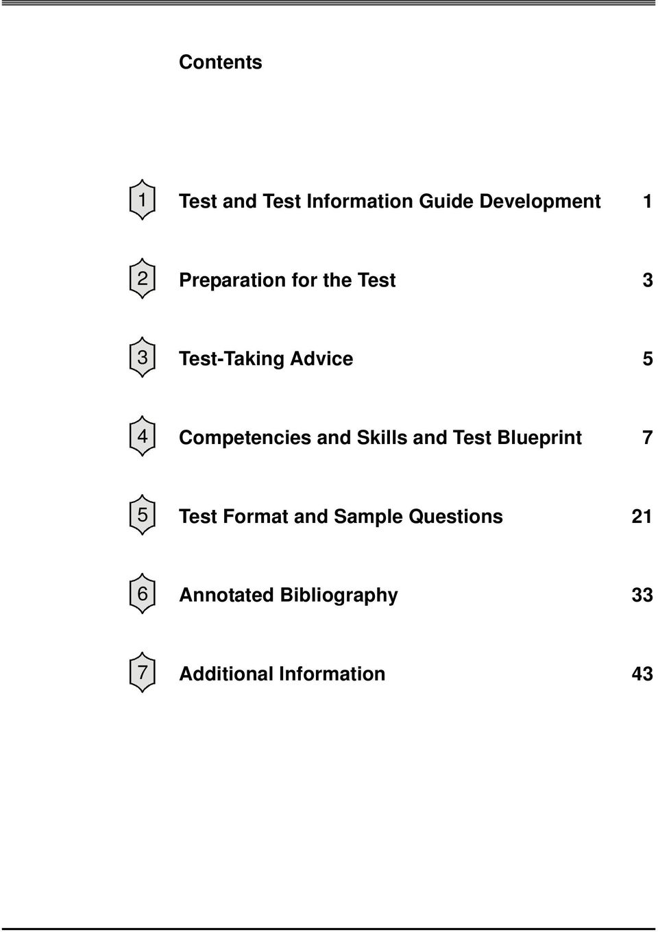 Competencies and Skills and Test Blueprint 7 5 Test Format and