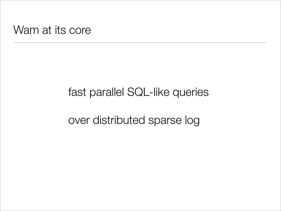 SQL-like queries