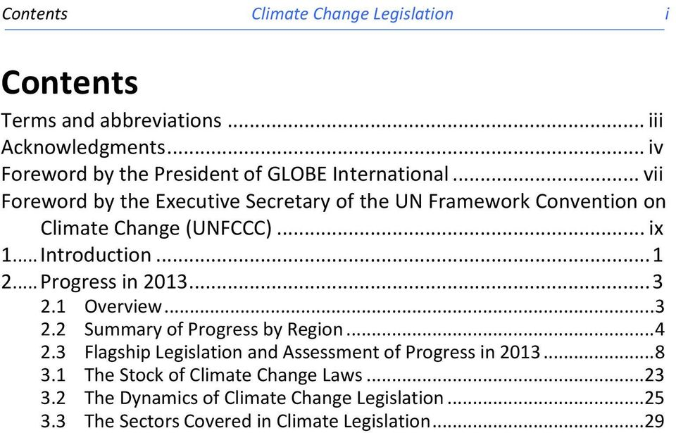 .. vii Foreword by the Executive Secretary of the UN Framework Convention on (UNFCCC)... ix 1... Introduction... 1 2.