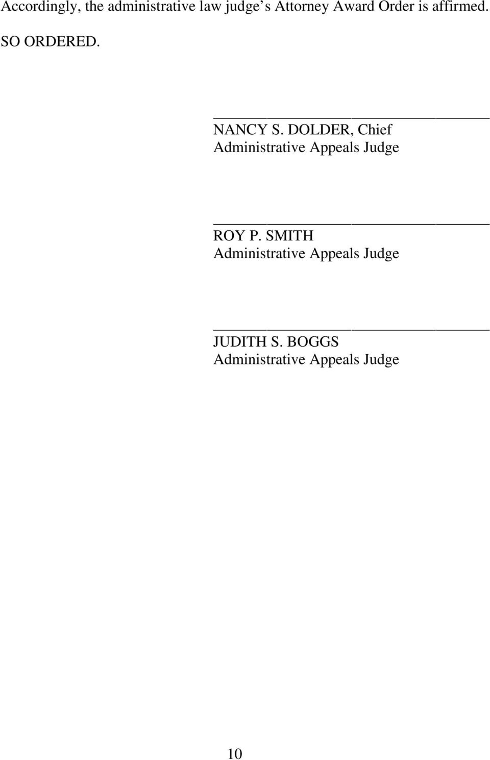 DOLDER, Chief Administrative Appeals Judge ROY P.