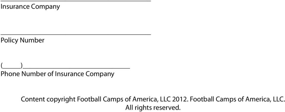 copyright Football Camps of America, LLC