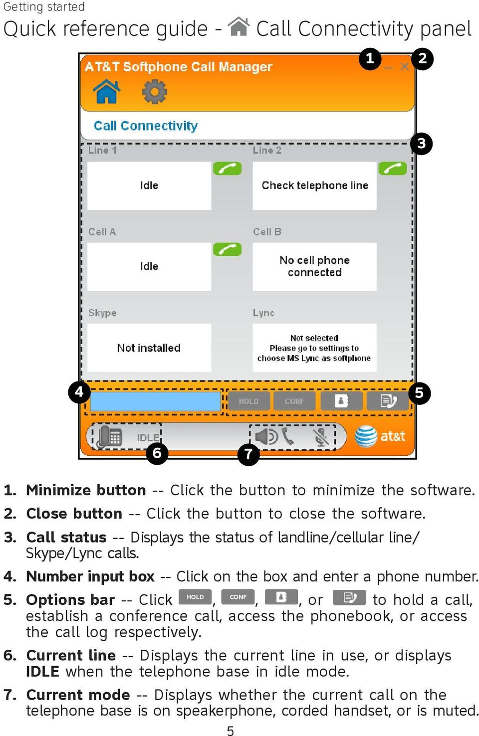 Number input box -- Click on the box and enter a phone number.