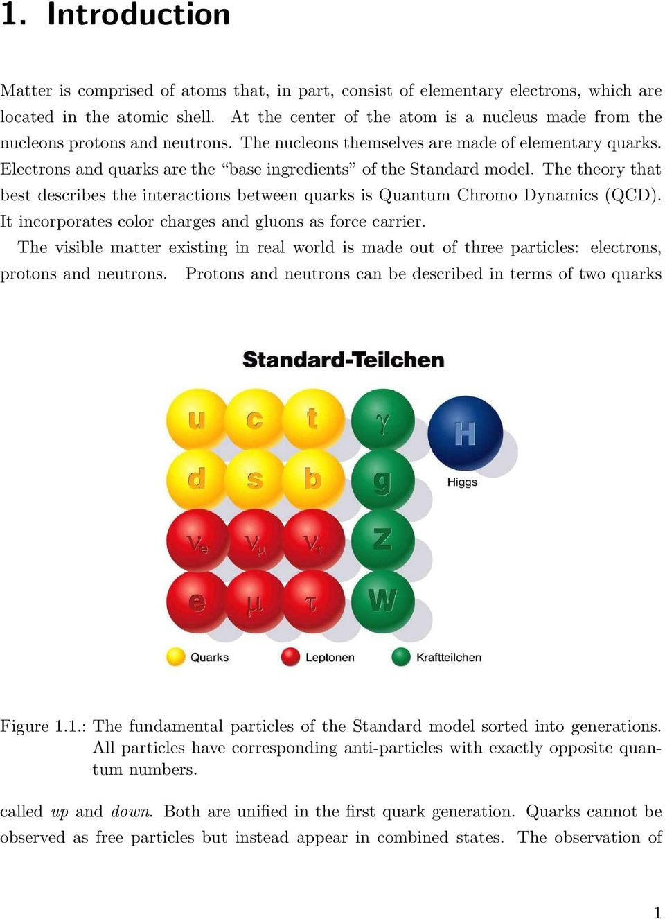 Electrons and quarks are the base ingredients of the Standard model. The theory that best describes the interactions between quarks is Quantum Chromo Dynamics (QCD).