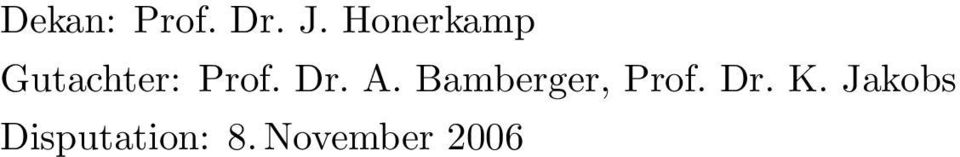Dr. A. Bamberger, Prof. Dr.