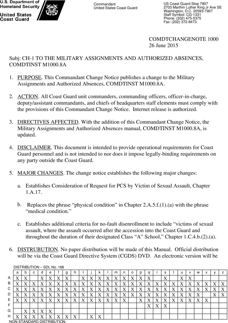 All Coast Guard unit commanders, commanding officers, officer-in-charge, deputy/assistant commandants, and chiefs of headquarters staff elements must comply with the provisions of this Commandant