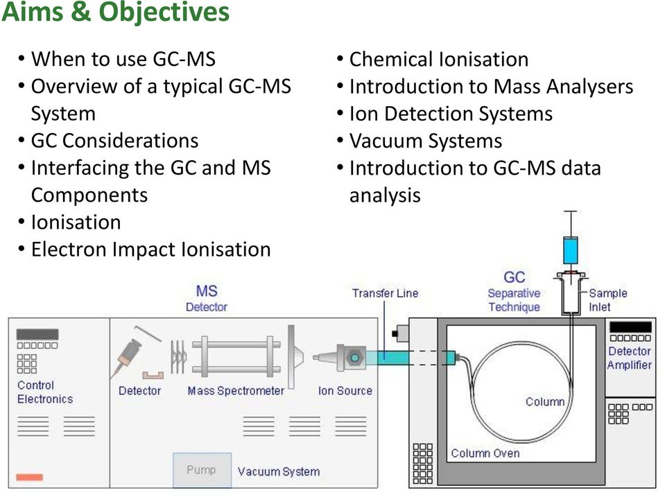 Electron Impact Ionisation Chemical Ionisation Introduction to Mass