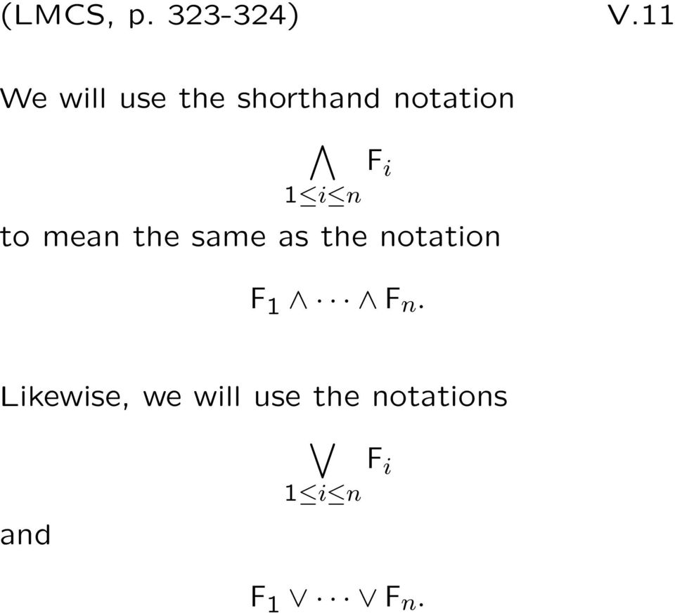 1 i n to mean the same as the notation F 1