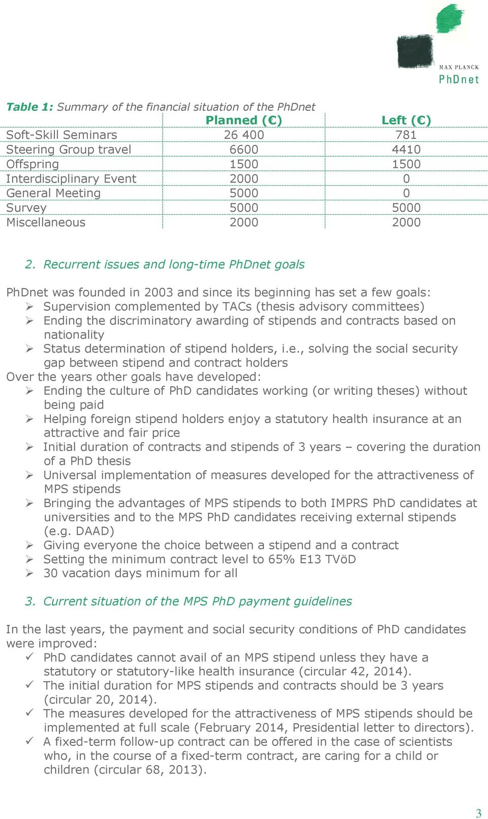 Recurrent issues and long-time PhDnet goals PhDnet was founded in 2003 and since its beginning has set a few goals: Supervision complemented by TACs (thesis advisory committees) Ending the