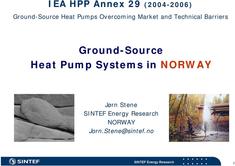 Barriers Ground-Source Heat Pump Systems in