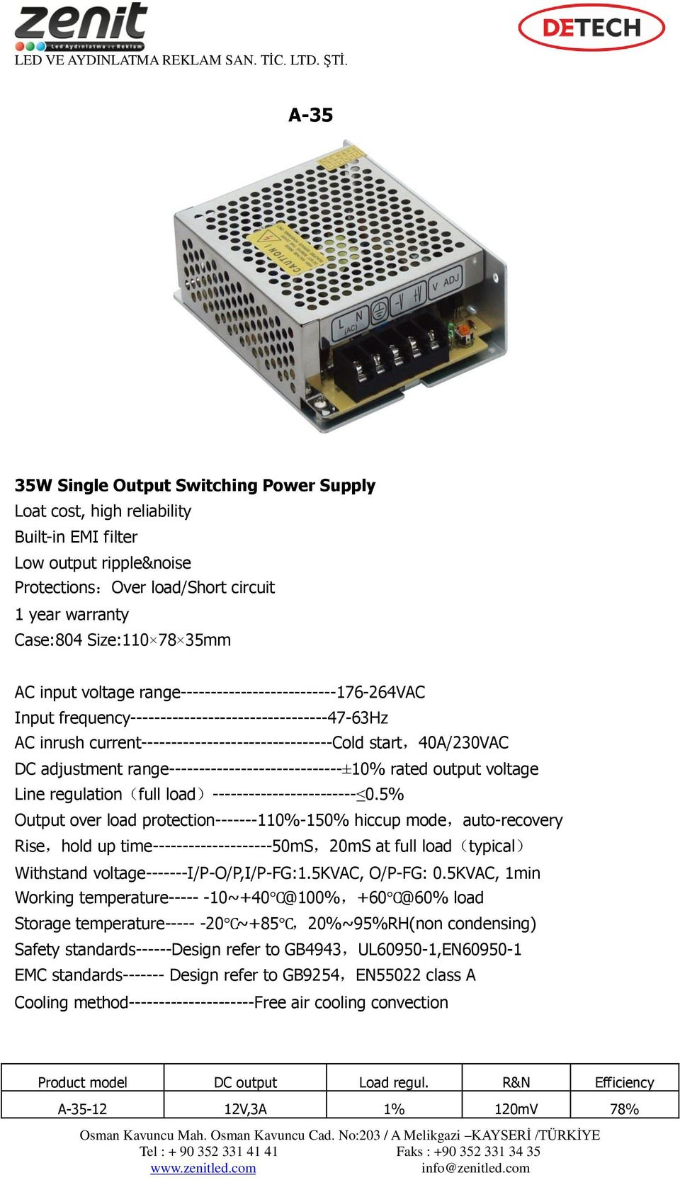 range-----------------------------±10% rated output voltage Line regulation(full load)------------------------ 0.