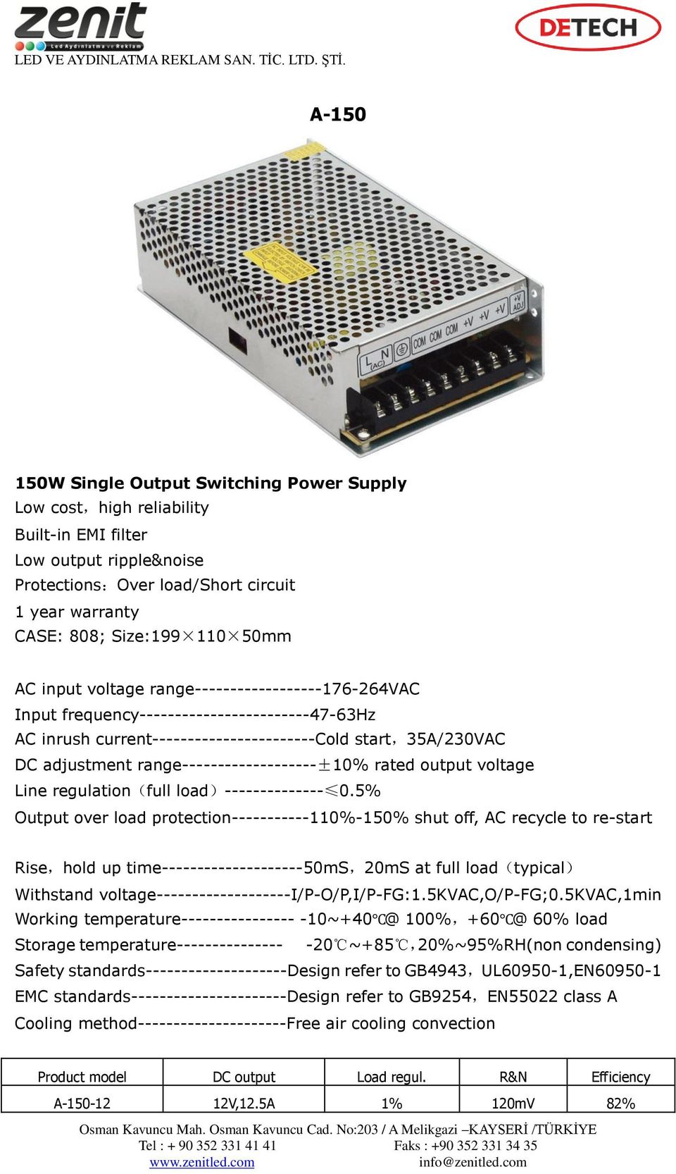 range-------------------±10% rated output voltage Line regulation(full load)-------------- 0.