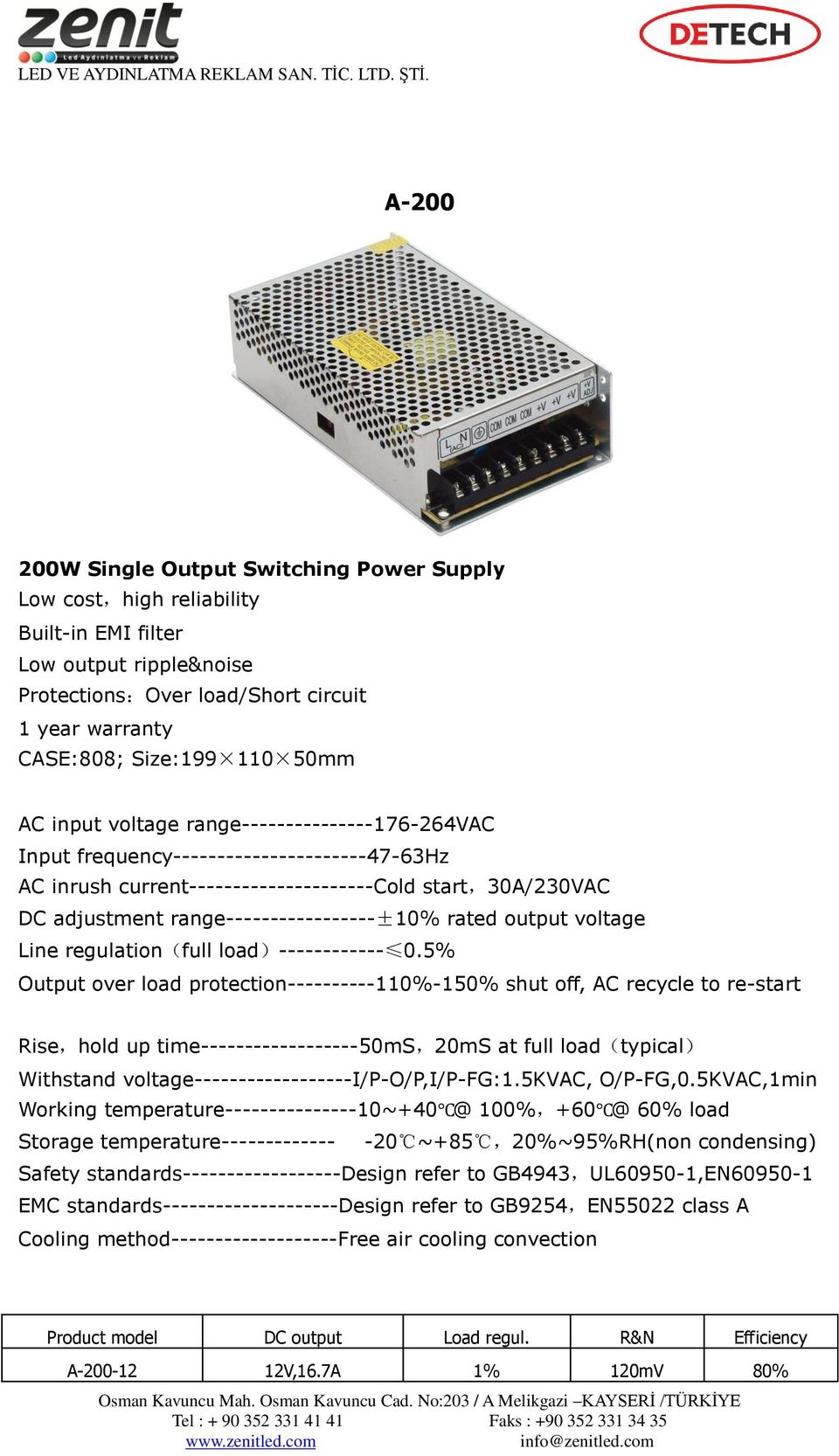 output voltage Line regulation(full load)------------ 0.