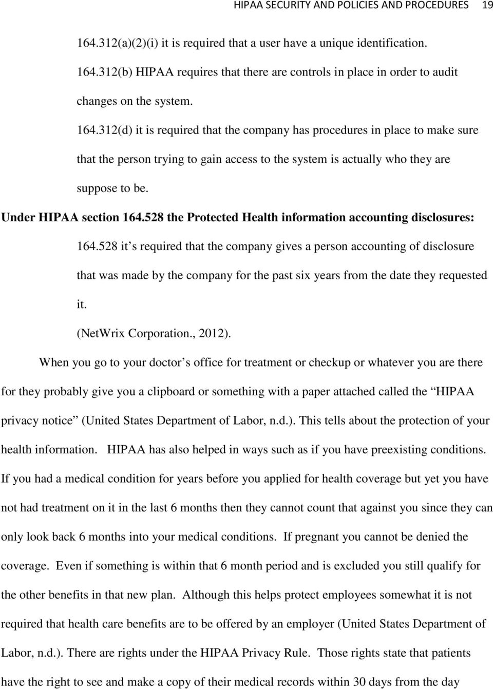 528 the Protected Health information accounting disclosures: 164.