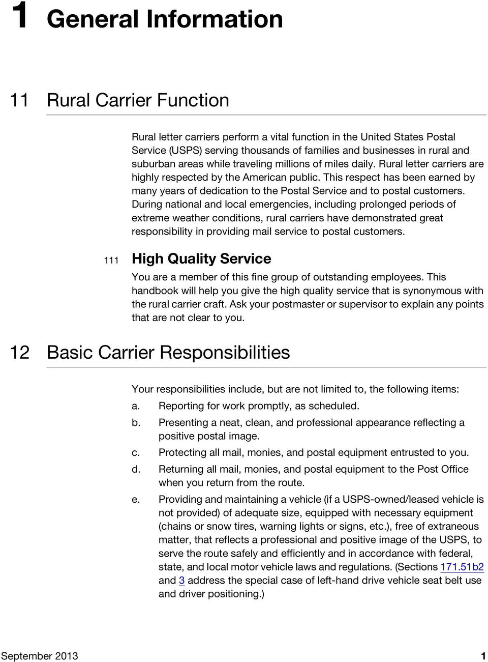 Rural Carrier Transmittal Duties and Letter Responsibilities