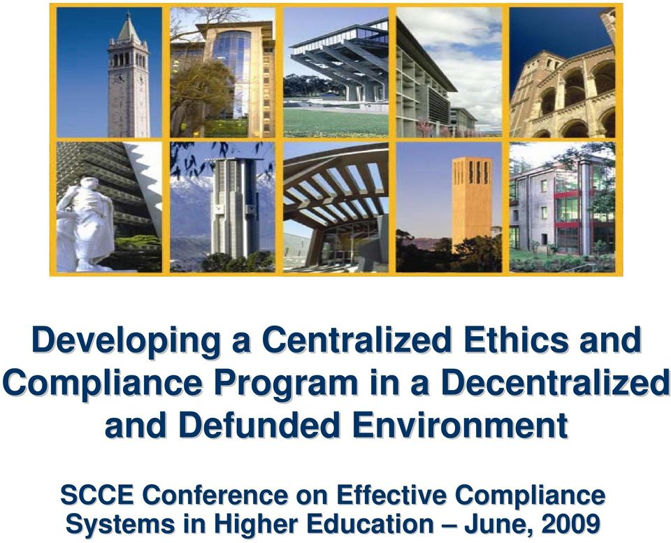 SCCE Conference on Effective Systems in