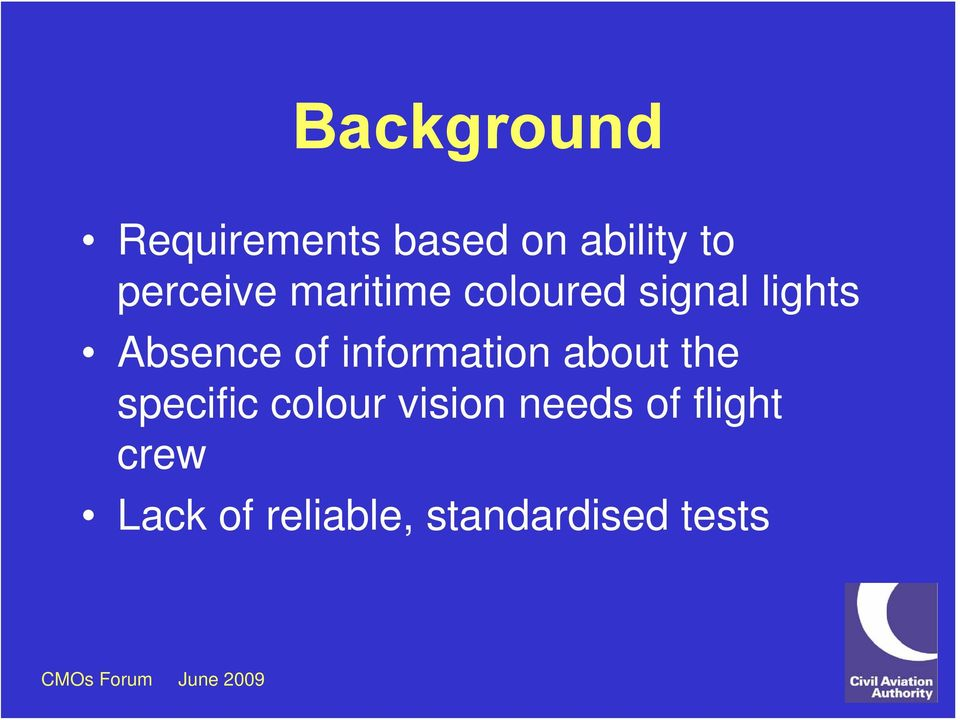 of information about the specific colour vision