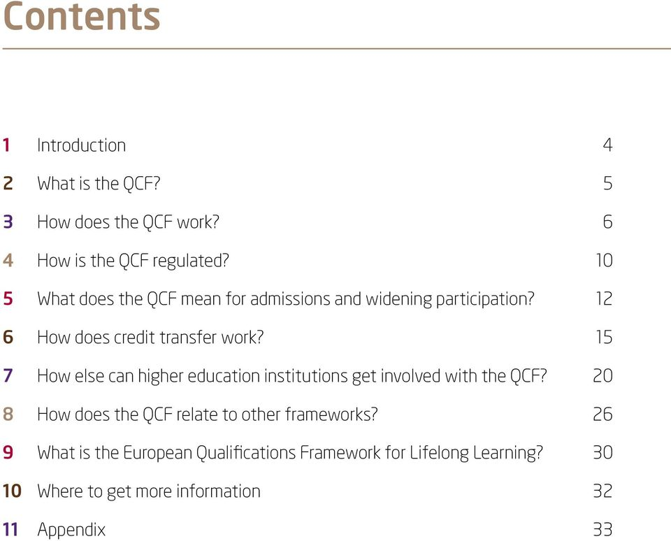 15 7 How else can higher education institutions get involved with the QCF?