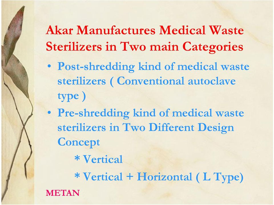 autoclave type ) Pre-shredding kind of medical waste sterilizers in
