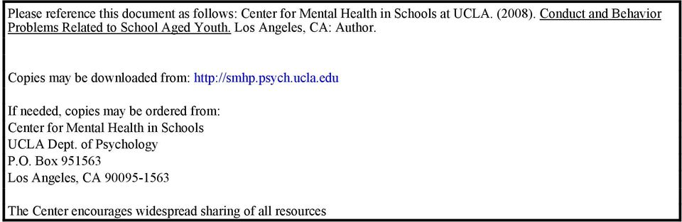 Copies may be downloaded from: http://smhp.psych.ucla.