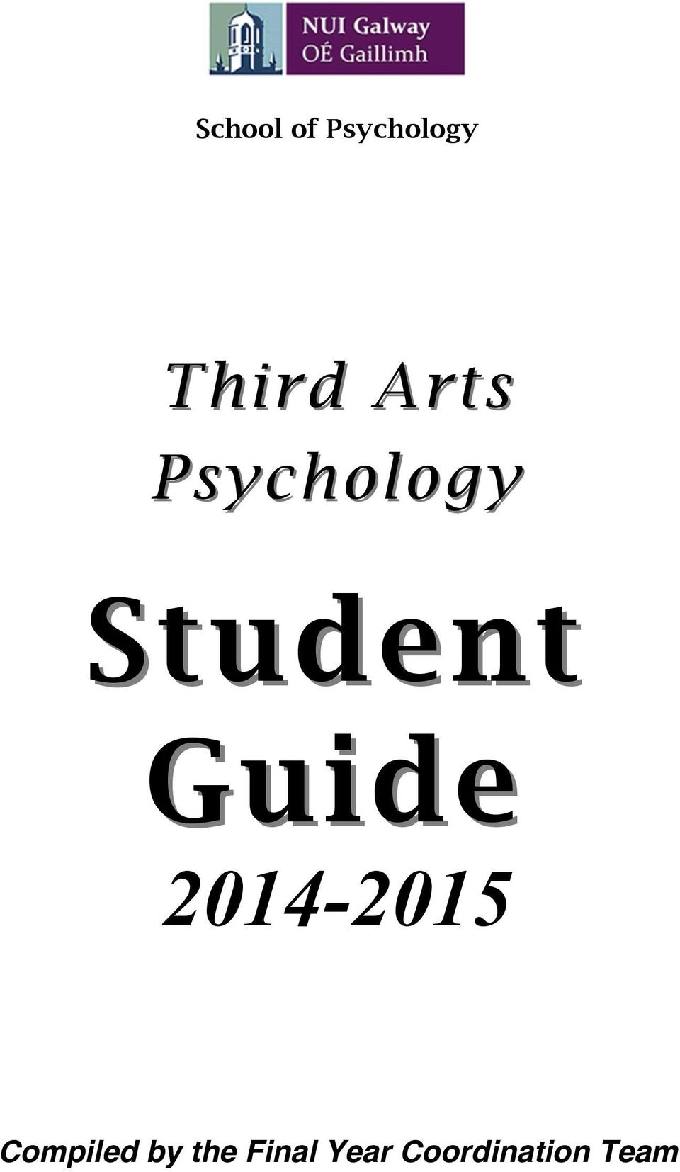 Guide 2014-2015 Compiled by