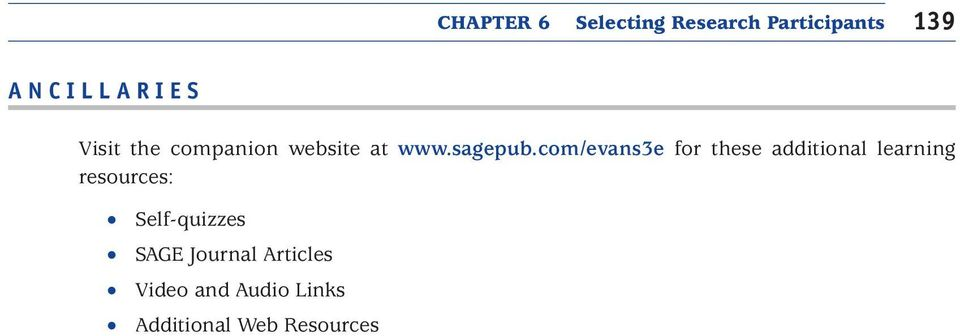 com/evans3e for these additional learning resources: