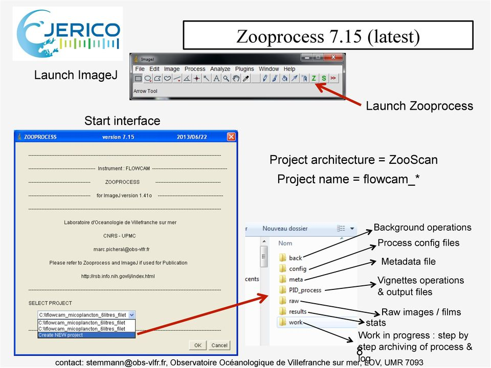 architecture = ZooScan Project name = flowcam_* 8 Background operations