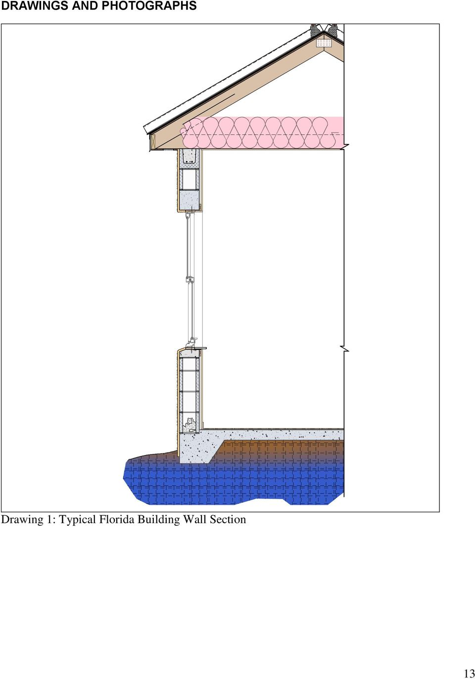 Building Wall Section DRAWING