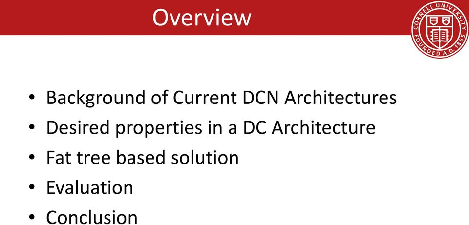 properties in a DC Architecture