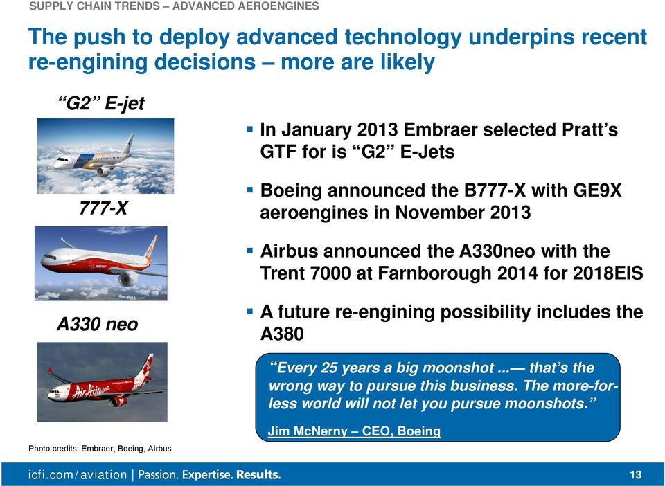 with the Trent 7000 at Farnborough 2014 for 2018EIS A330 neo A future re-engining possibility includes the A380 Every 25 years a big moonshot.