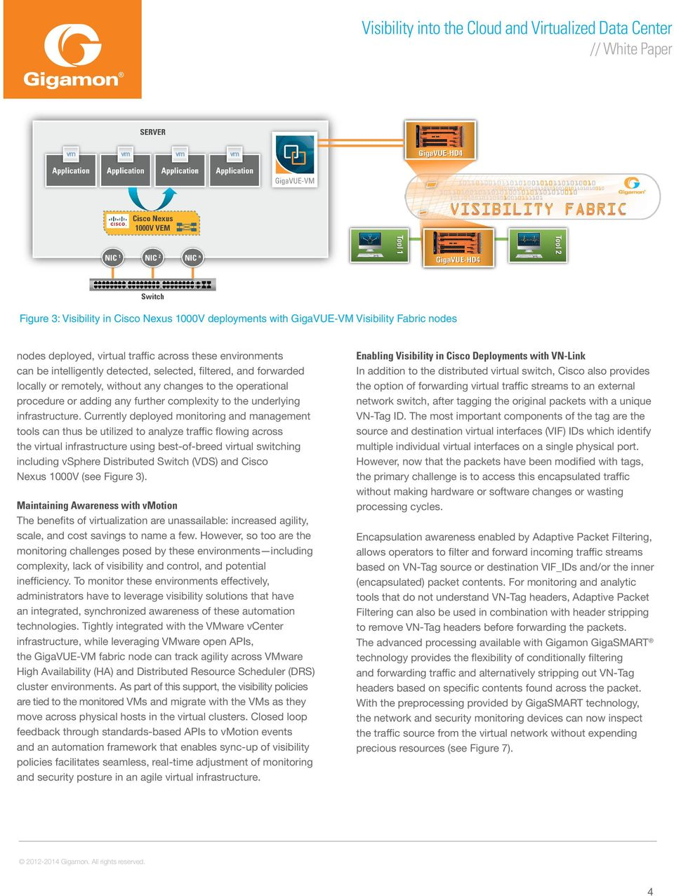Currently deployed monitoring and management tools can thus be utilized to analyze traffic flowing across the virtual infrastructure using best-of-breed virtual switching including vsphere