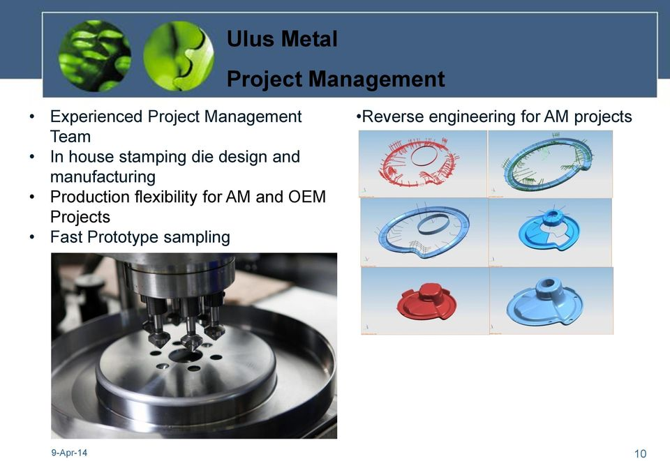 Production flexibility for AM and OEM Projects Fast