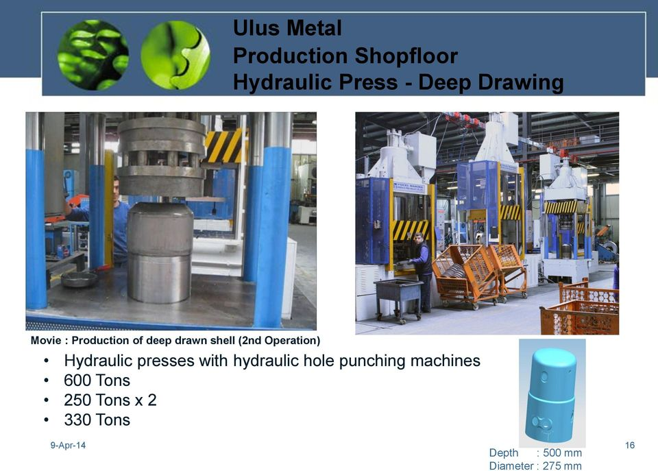 Hydraulic presses with hydraulic hole punching machines