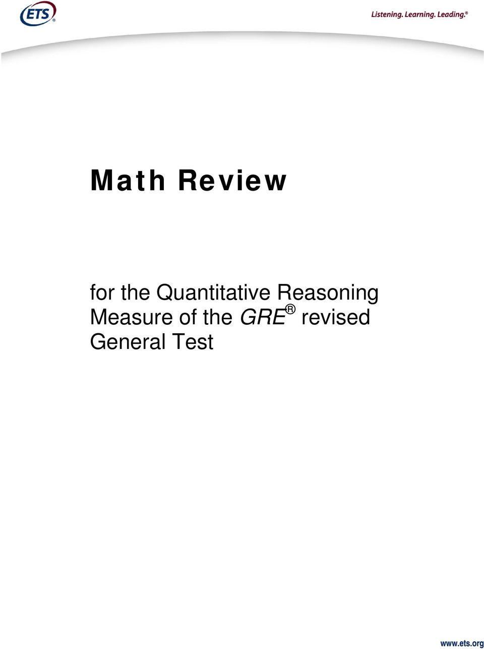 Measure of the GRE