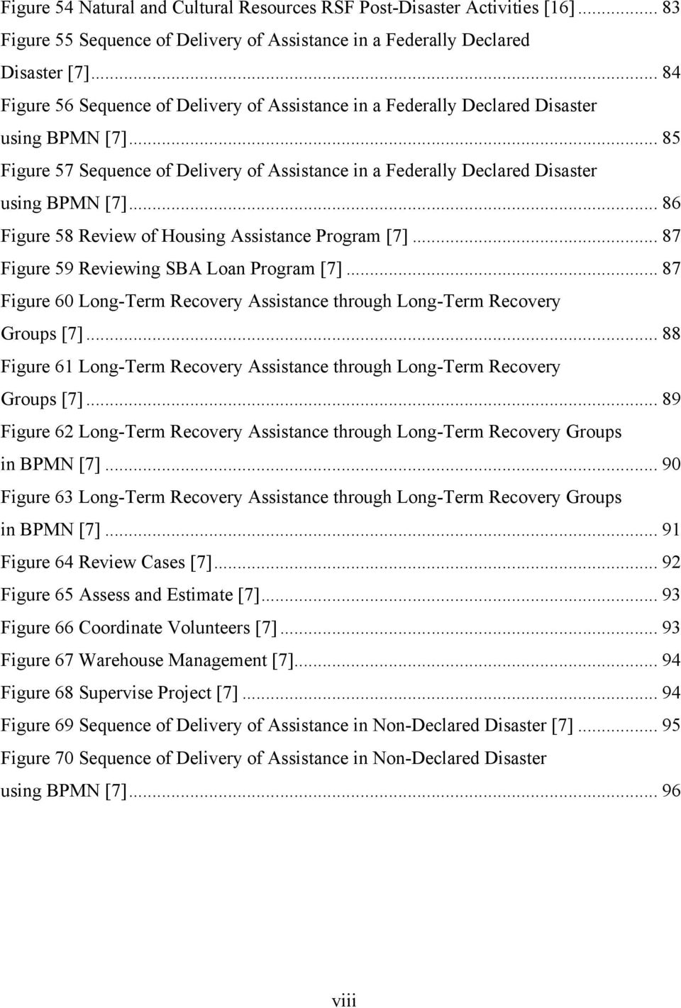 .. 86 Figure 58 Review of Housing Assistance Program [7]... 87 Figure 59 Reviewing SBA Loan Program [7]... 87 Figure 60 Long-Term Recovery Assistance through Long-Term Recovery Groups [7].