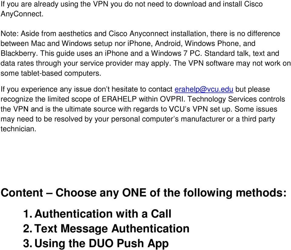 Upgrading to Duo Authentication VPN A Guide for Users of