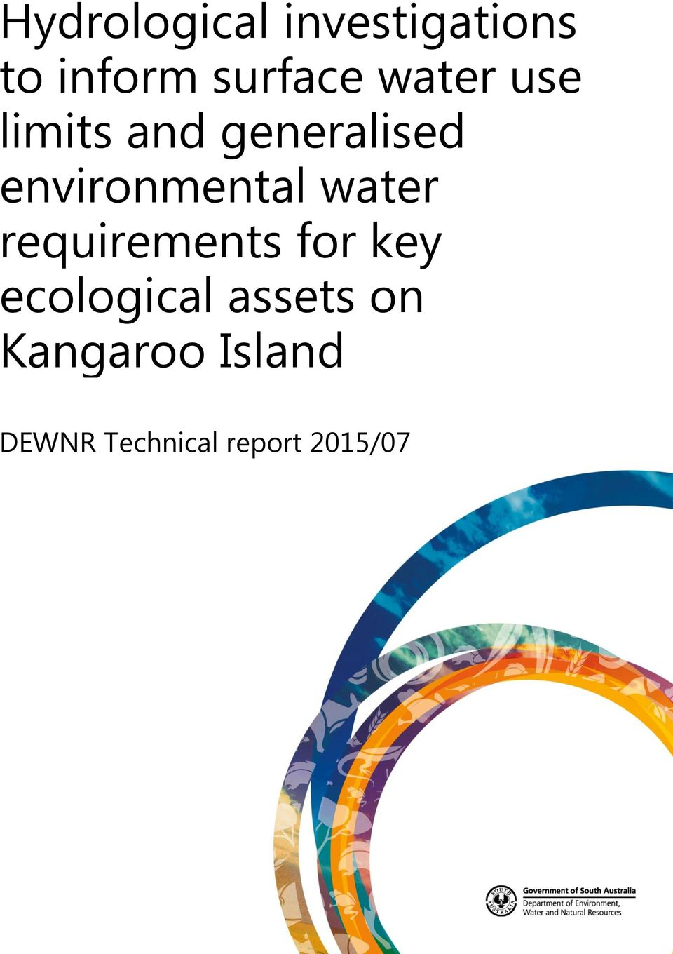 water requirements for key ecological assets